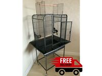 Arizona Open Top Parrot Cage - Black - Free Delivery