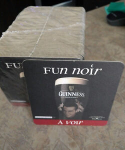 100 New GUINNESS Beer Coasters FUN NOIR A VOIR Double Side