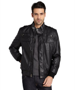 New CK Insulated Leather Jacket