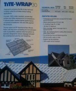 Synthetic Roofing Underlayment