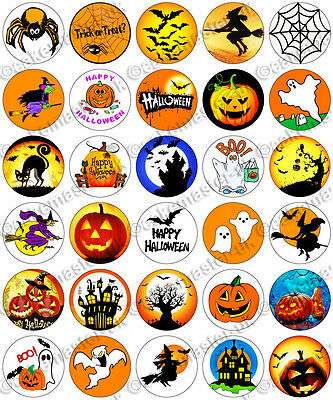 30 x Halloween Scary Party Edible Rice Wafer Paper Cupcake Toppers