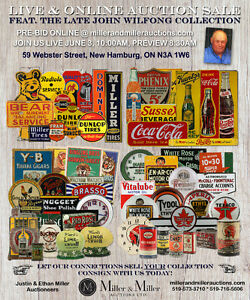 HUGE Gas Oil Porcelain Signs Tins Advertising Collection Auction