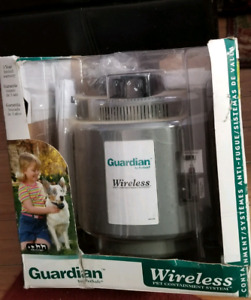 Guardian wireless pet containment system