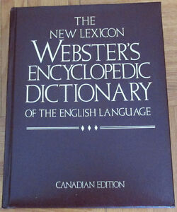 Webster encyclopedic,gold trim : Dictionnaire/dictionary
