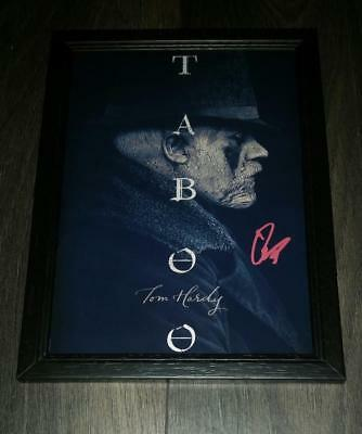 """TABOO PP SIGNED & FRAMED A4 12X8"""" PHOTO POSTER TOM HARDY"""
