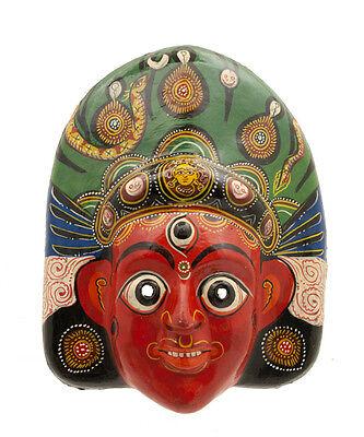 Mask Hat and Mitten Set Mahakali Kali Dance Indra Jatra Nepal Paper Mache 3179
