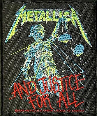 """METALLICA PATCH / AUFNÄHER # 41 """"AND JUSTICE FOR ALL"""""""