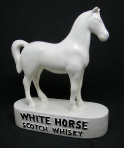 White Horse Scotch Whisky  Figurine Porcelain Cheval Deco Bar