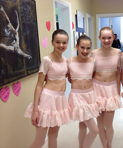 Girls pink Dance Costume - two piece
