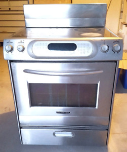 USED 30 inch Electric KitchenAid oven range FOR SALE