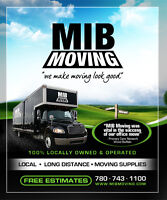 MIB MOVING-YOUR #1 LOCALLY OWNED AND OPERATED MOVERS