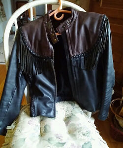 """LADIES  VINTAGE HD ""WILLIE G"" LEATHER JACKET"""