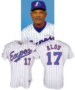 expos de montreal felipe alou game worn jersey 1993.. 25th patch