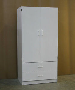 White Wardrobe Closet Armoire **Brand New**