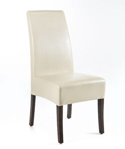 Fabric and Bonded Leather Dining Chairs for Sale! All $100 only