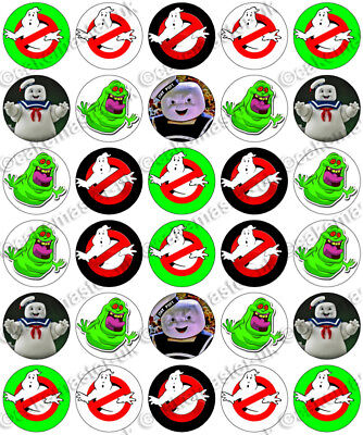 Ghostbusters Cupcake Toppers (30 x Ghostbusters Halloween Fun Party Edible Rice Wafer Paper Cupcake Toppers)