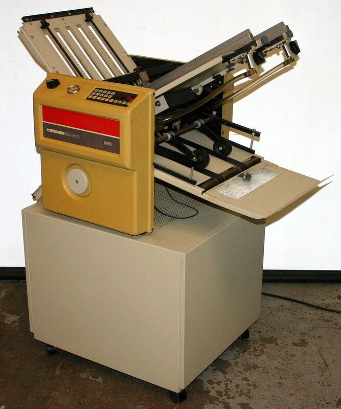 STANDARD (HORIZON) PRO-FOLD SUCTION FEED PAPER FOLDER, MODEL V-5000