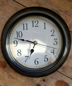 Vintage Look Wall Clock - Faux Wood, Battery Operated
