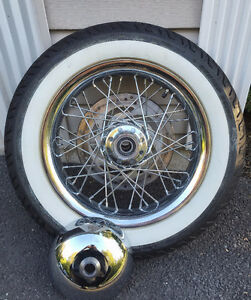 HD Softail Deluxe tire, wheel, rotor and center cap