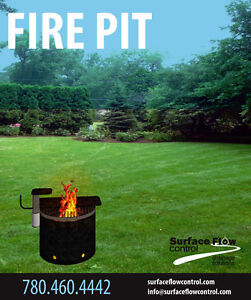 Camp Ground Style Fire Pit | Surface Flow Control