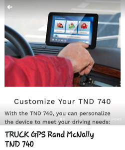TRuck GPS RAND MCNALLY TND740   GPS WITH LIFETIME MAP UPDATES