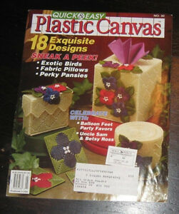 Plastic canvas sheets and pattern book