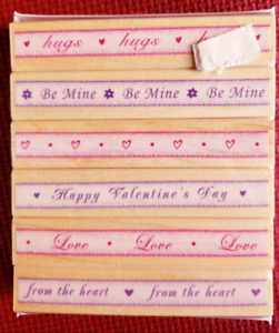 Rubber Stamp set by Hero Arts called Valentine Ribbons