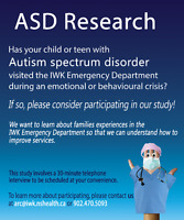 Research Study Opportunity: Do you have a child with Autism?