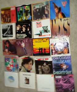 45 rpm Vinyl Inxs Fixx John Cougar Big Country A-Ha Icicle Works