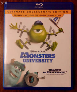 Monsters University (Blu-Ray 3D, 2013): 3D Disc Only - $10 FIRM