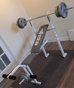 Bench Weider banc d'entrainement inclinable et leg curl jambe