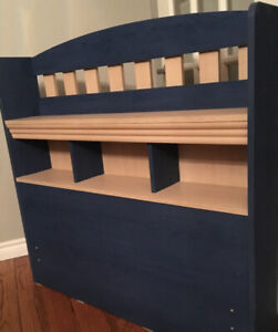TWIN SIZE BOOKCASE BOOKSHELF HEADBOARD LIKE NEW