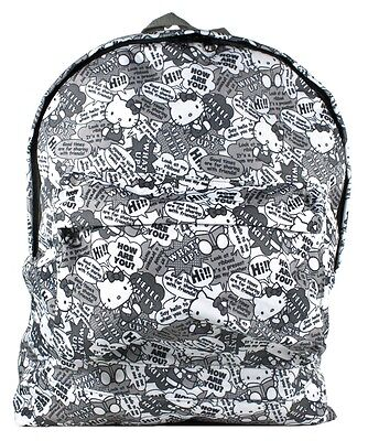 Hello Kitty Bag Pack (Brand New Authentic Hello Kitty Eikoh Back Pack / School Bag - Gray by)