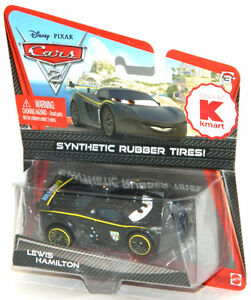 Disney Pixar Cars 2 1/55 Lewis Hamilton Rubber Tires Diecast Car