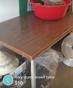 Sturdy brown desk for sale