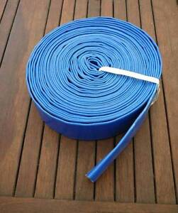"""15m ROLL of 1.5"""" / 38mm PVC LAY FLAT HOSE FOR WATER PUMP Thornlands Redland Area Preview"""