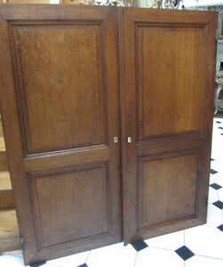 Antique Eighteenth Century Quarter Sawn  Tiger Oak Doors