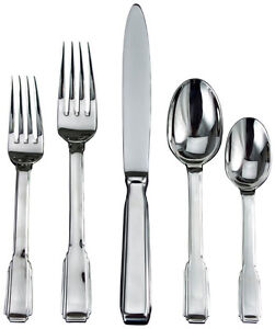 Ricci Art Deco Stainless Steel Flatware/Cutlery (Paid $1350)