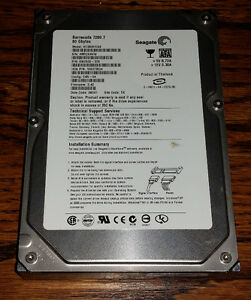 "Used working Seagate Barracuda 80 GB 3.5"" hard drive"