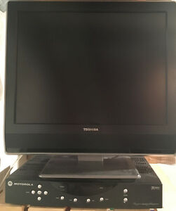 "Toshiba 20"" LCD TV with Shaw Box"