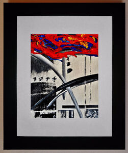 """11""""x14"""" Framed, Original Abstract Painting Kitchener / Waterloo Kitchener Area image 1"""