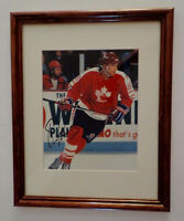 Eric Lindros Team Canada Signed Framed Photo Auto