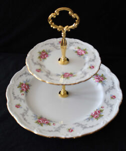 ROYAL ALBERT 2 TIER CAKE STAND - TRANQUILLITY