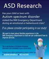 IWK Research Study With Parents/Guardians of Youth with Autism