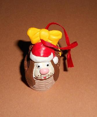 "Collectible Santa Dog Basket 2-1/2"" X 1-1/2"" X 1-3/4"" Tree Ornament"