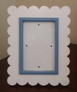 Beautiful White & Blue Photo Frame For Baby Boy
