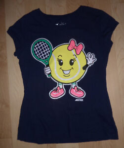 Justice T-shirt 'Love to Play Tennis', size 8, excellent conditi