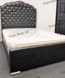 💚BED SALE. PRINCESS DIAMANTE BED FRAMES. 4FT6 DOUBLE CLEARANCE SALE