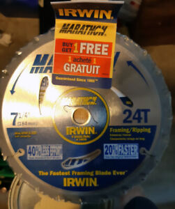 Saw blades 71/4, Irwin twin pack NEW unopened $10