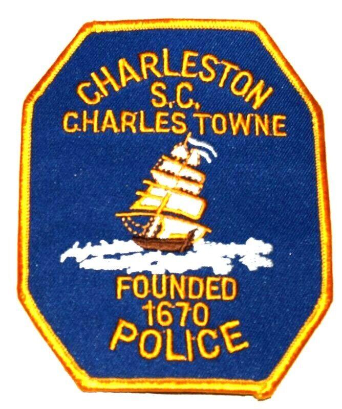 CHARLESTON CHARLESTOWN SOUTH CAROLINA SC Sheriff Police Patch TALL SAILING SHIP